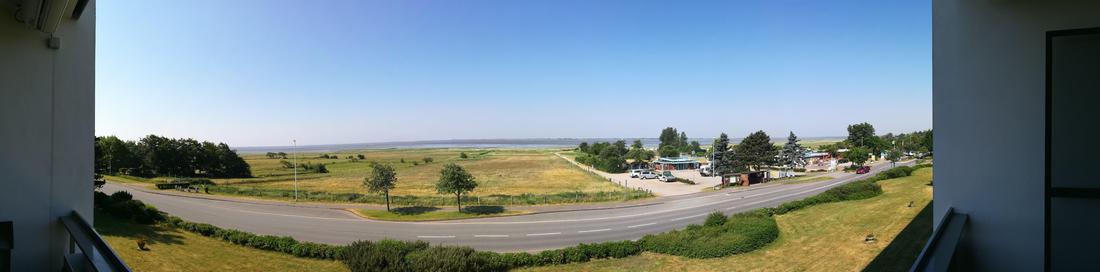 Panoramablick zur Nordsee vom Balkon