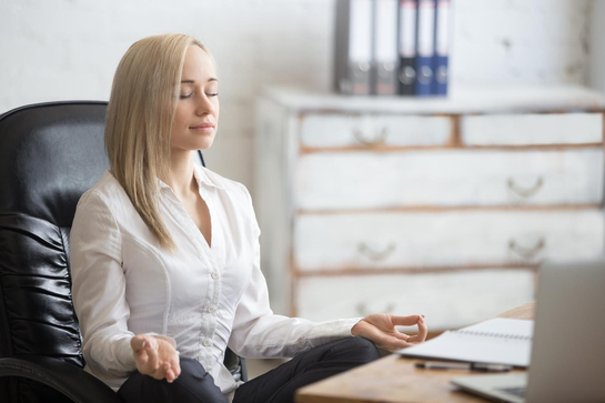 Entspannt im büro