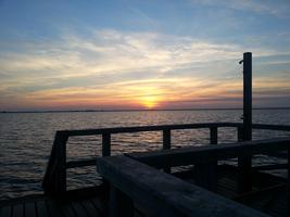 Sonnenuntergang auf der Schobüller Brücke