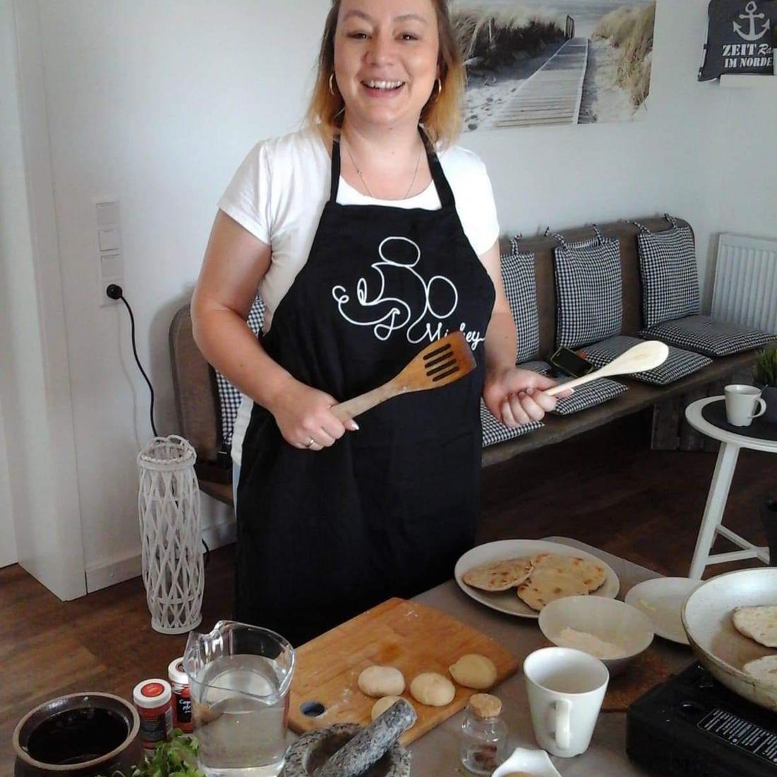 Nadja Scholz von Ayur Happy bekocht die Teilnehmer mit Mittag und Abendessen