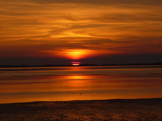 Sonnenuntergang Schobüll