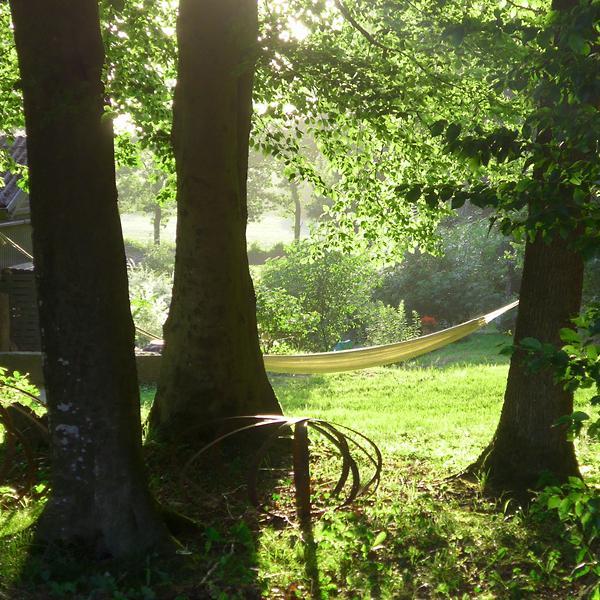 Relaxen im Garten des Forellenhofes